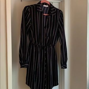 Lush Pin Strip Dress SZ M